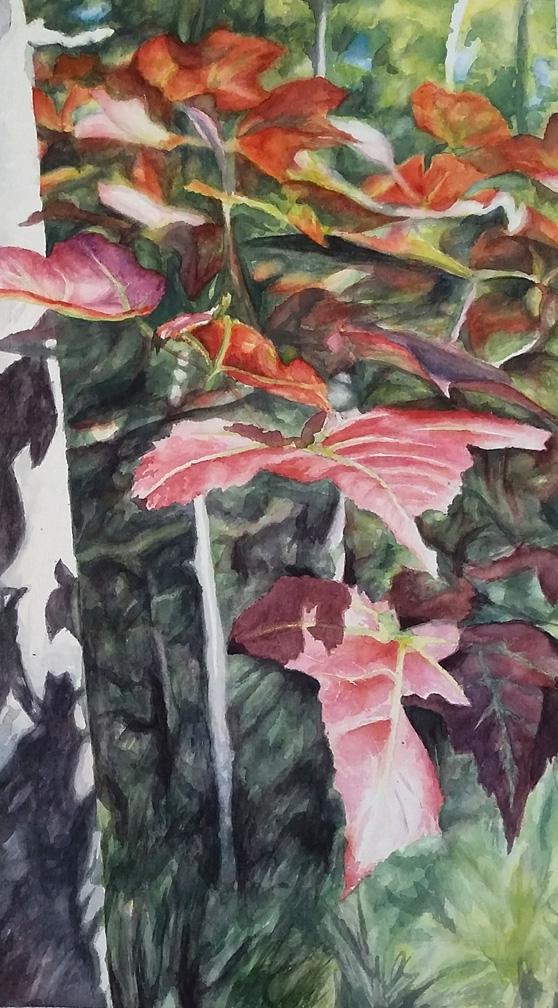 Suncatcher watercolor painting