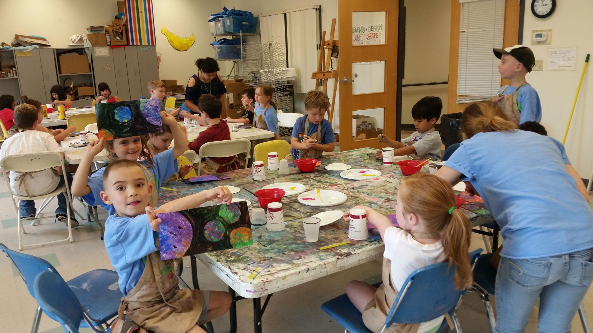 Guest art teacher Banana Factory Art Camp