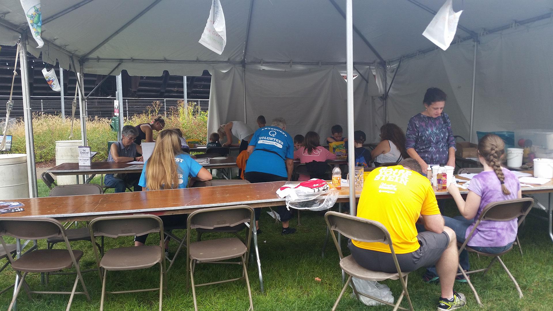 Guest Teacher at Oktoberfest craft tent
